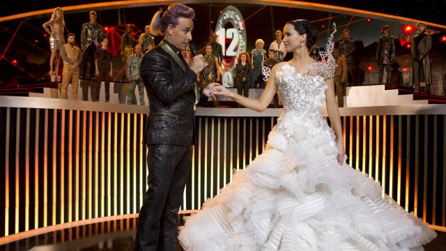 The Replica Of The Wedding Dress Worn By Katniss Everdeen Jennifer Lawrence In Hunger Games The Kindling Spotern