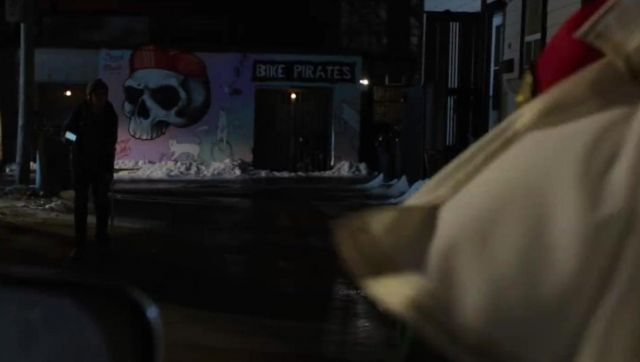 Vélo Pirates de construction à Toronto, au Canada comme on le voit dans Shazam!
