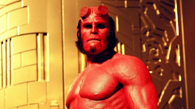 The mask of Hellboy (Ron Perlman) in Hellboy