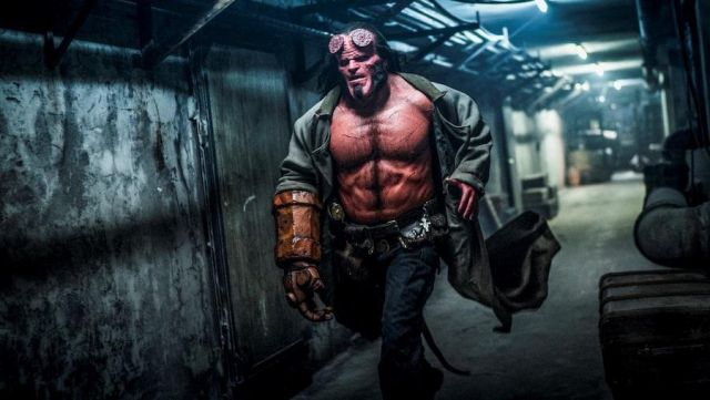 The fist of stone Hellboy (David Harbour) in Hellboy