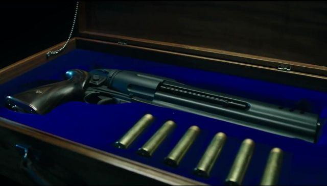 The gun from Hellboy (David Harbour) in Hellboy