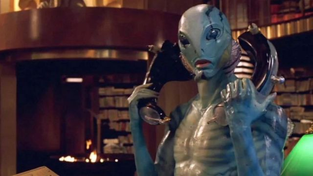 The authentic hand of Abe Sapien (Doug Jones) Hellboy