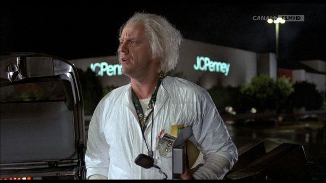 JCPenney du Dr Emmett Brown (Christopher Lloyd) dans Retour vers le Futur