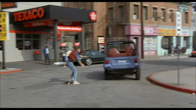 Texaco Neon Sign of Marty McFly (Michael J. Fox) in Back to the Future