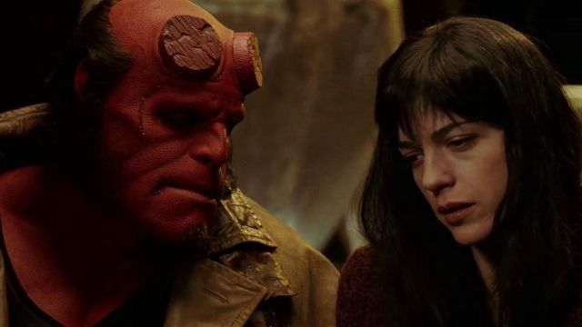 Hellboy's (Ron Perlman) shaved horns as seen in Hellboy