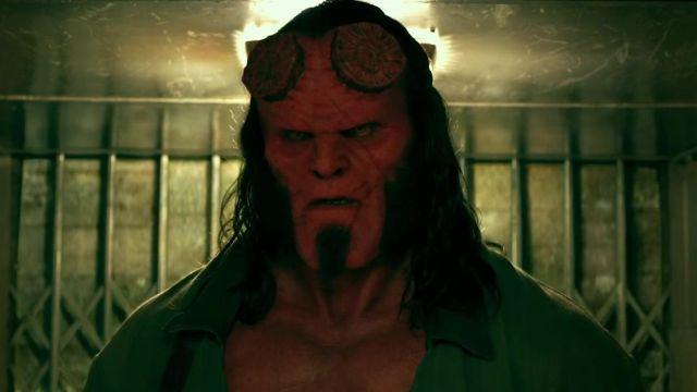 Hellboy's (David Harbour) horns as seen in Hellboy