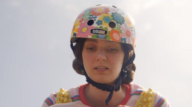 Lily's (Tanya Reynolds) bike helmet by Nutcase as seen in Sex Education S01E08