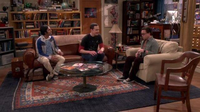 Super The Leather Sofa In The Living Room Of Sheldon Cooper Jim Andrewgaddart Wooden Chair Designs For Living Room Andrewgaddartcom
