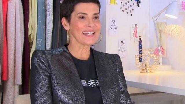 La veste pailletée de Cristina Córdula dans Les reines du shopping du 31/01/2019