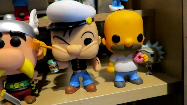 The Figurine Funko Pop Of Popeye Modzii In His Video The Biggest Collection Of Figurines Pop Of France Spotern