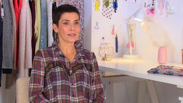 La chemise à carreaux de Cristina Córdula dans Les Reines du shopping du 21/02/2019