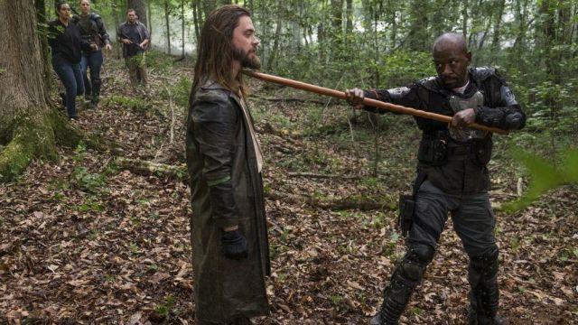 Leather long Jacket Coat worn by Paul Rovia / Jesus (Tom Payne) as seen in The Walking Dead S08E03