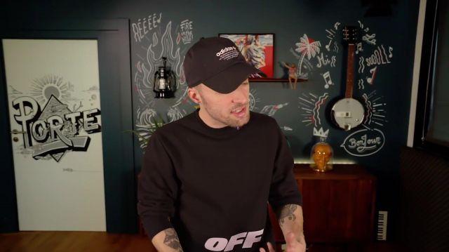 Le t-shirt Off-White porté par Squeezie dans sa vidéo LA TÉLÉ VA-T-ELLE DISPARAÎTRE ?