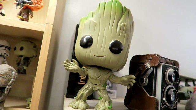 Nouveau Officiel Marvel Guardians of the Galaxy-Groot Pocket POP Vinyl porte-clés
