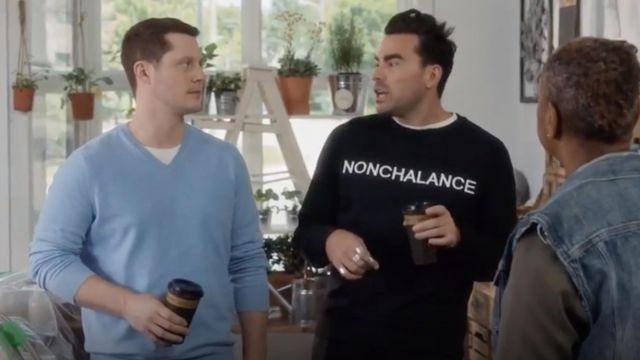 Nº21 Nonchalance Embroidered Sweatshirt worn by David Rose (Dan Levy) in Schitt's Creek S05E08