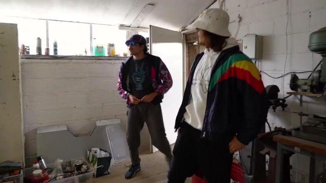 La veste de survêtement portée par Lorenzo dans sa vidéo YouTube Zap Du Sale #5