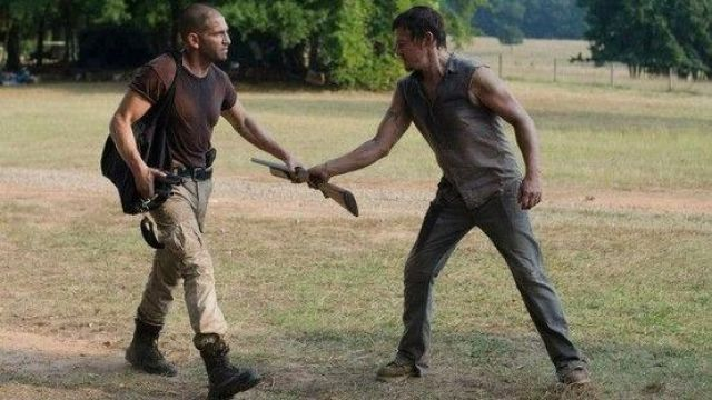 The boots of Shane Walsh ( Jon Bernthal) The Walking Dead S02E07