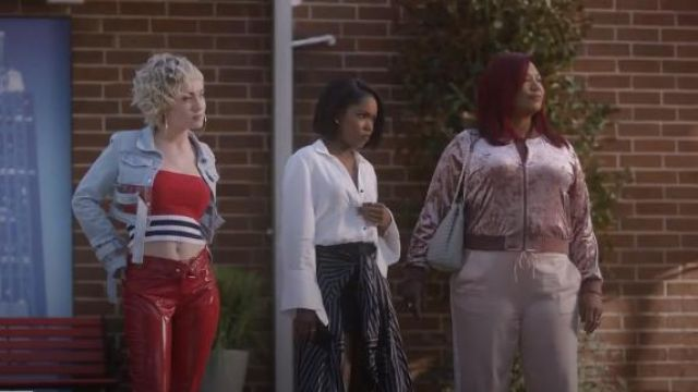 Ashley Stewart, Plus la Taille de Velours Blouson porté par Carlotta Brun (Queen Latifah) Star (S02E08) (S02E08)