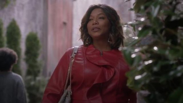 Ashley Stewart Ruffle Face Veste en Faux Cuir porté par Carlotta Brun (Queen Latifah) Star (S02E14)