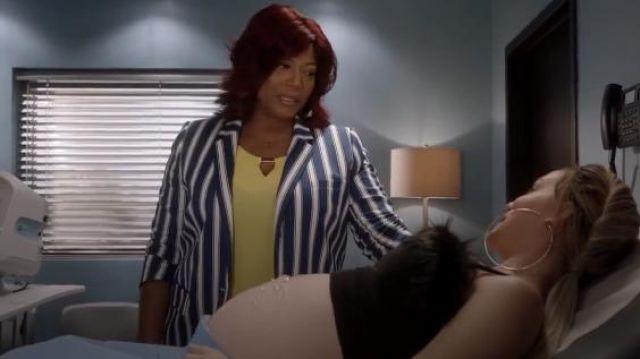 Manches courtes Découpe de Bustier Top Jaune porté par Carlotta Brun (Queen Latifah) Star (S03E01) (S03E01)