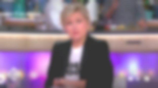 La veste détail satin The Kooples de Anne-Élisabeth Lemoine dans C à vous le 20.03.2019