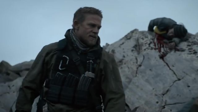 Arc'teryx Jacket worn by William 'Ironhead' Miller (Charlie Hunnam) as seen in Triple Frontier