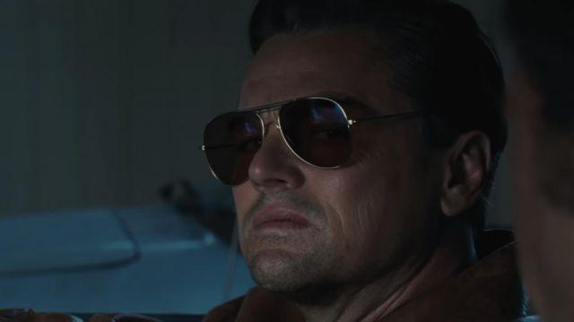 La paire de lunettes de soleil aviator de Rick Dalton (Leonardo DiCaprio) dans Once Upon a Time in Hollywood