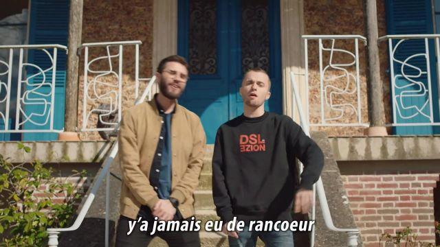 Le sweatshirt Diesel porté par Squeezie dans le clip ON FAIT LA PAIX ❤️ (clip Cyprien & Squeezie)