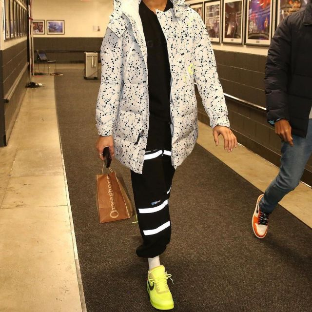 Sneakers Nike Air Force 1 Low Off White Volt Worn By D Angelo