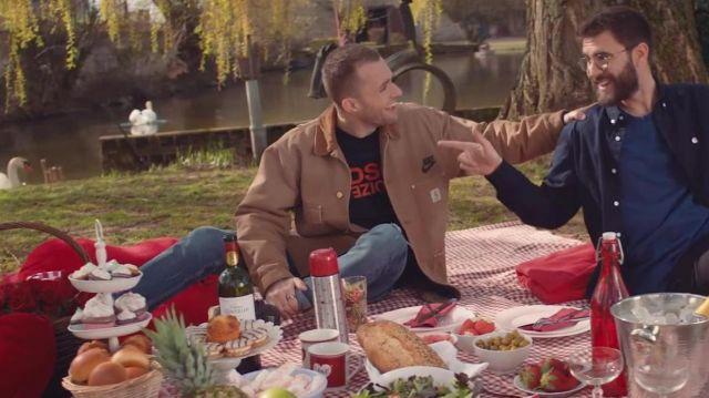 La veste marron de Squeezie dans sa vidéo YouTube ON FAIT LA PAIX ❤️ (clip Cyprien & Squeezie)