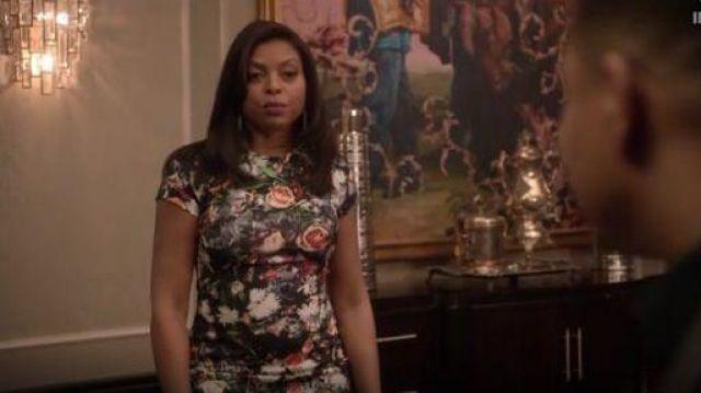 Alexander McQueen Long Corps Con Robe à fleurs portées par Taraji P. Henson dans l'Empire (S01E10)
