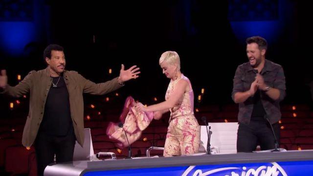 Dolce & Gabbana Paisley Pants worn by Katy Perry on American Idol 2019