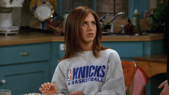 Champion New York Knicks Sweater in Grey worn by Rachel Green ...