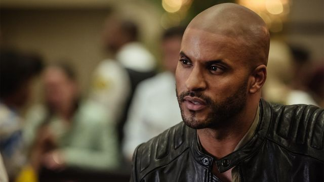 Leather jacket worn by Shadow Moon (Ricky Whittle) as seen in American Gods S01E03