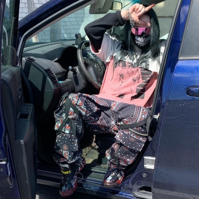 Imran Potato Custom LV Face Mask Reflective Worn By Billie Eilish
