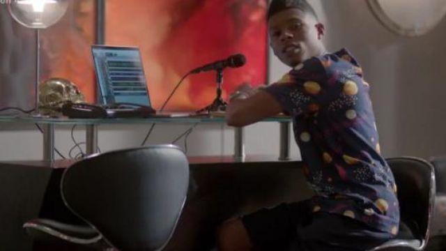 Gucci Espace Aigle de Coton Imprimé-Jersey T-Shirt porté par Hakeem Lyon (Bryshere Y. Gris) dans l'Empire (S04E03)