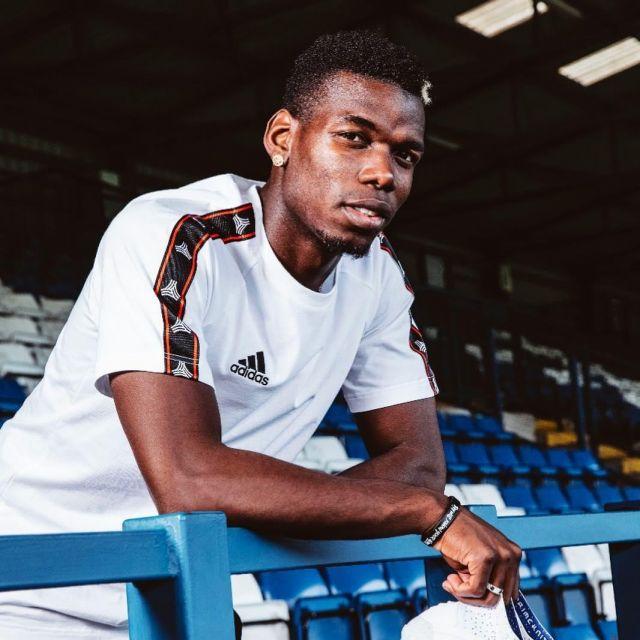 Le t shirt Adidas Tango de Paul Pogba sur son compte