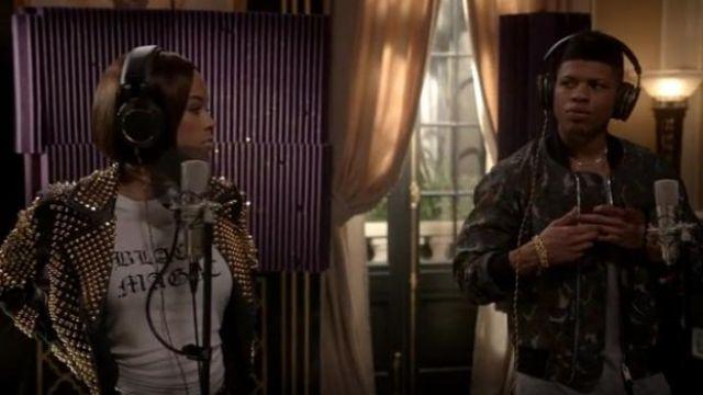 Burberry Archer Bête Blouson porté par Hakeem Lyon (Bryshere Y. Gris) dans l'émission de TÉLÉVISION de l'Empire (S04E12)