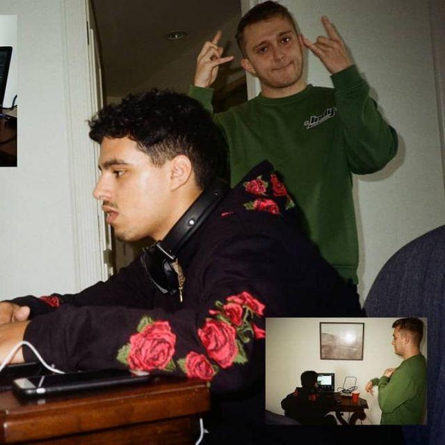 Le sweatshirt vert Independent porté par Vald sur le compte Instagram @Pas2signal