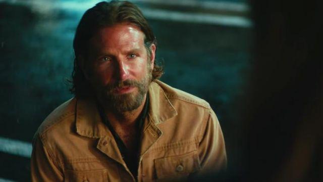 Beige jacket worn by Jack (Bradley Cooper) as seen in A Star Is Born