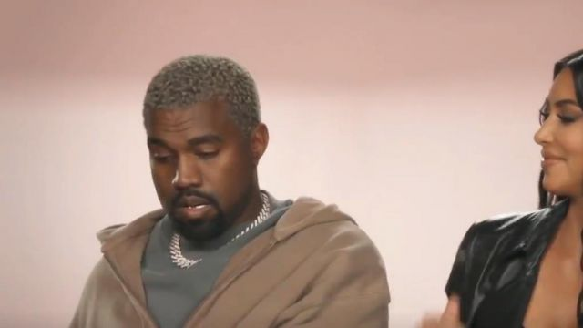 Yeezy Season 6 Zip Up Hoodie worn by Himself (Kanye West) in Keeping Up with the Kardashians (S16E01)