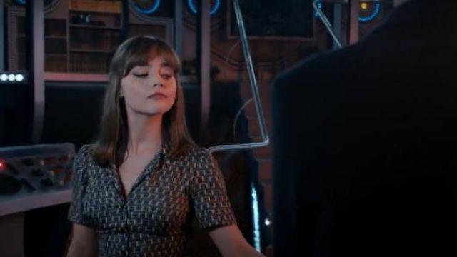 Topshop de canalisation à Carreaux Imprimé Chemisier porté par Clara (Jenna Coleman) dans Doctor Who (S08E06)