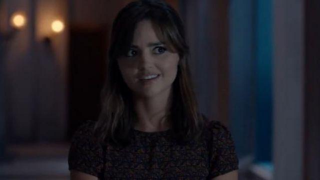 Cire Ko Ko Sessun Robe Tissé, en Afrique de l'Impression porté par Clara (Jenna Coleman) dans Doctor Who (S08E12)
