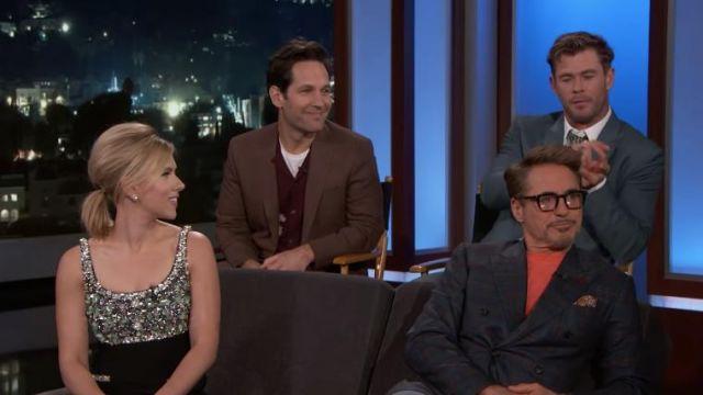 Earring Silver worn by Scarlett Johansson on Jimmy Kimmel Live April 8, 2019