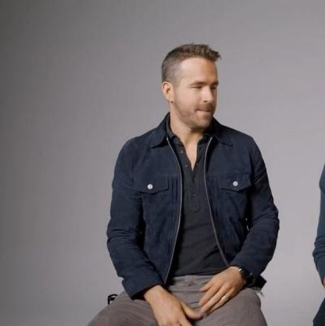 Varsity Cotton Jacket worn by Ryan Reynolds on the Instagram