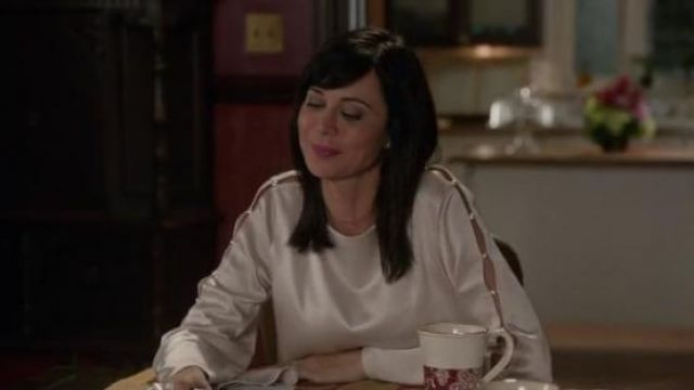 Alice + Olivia Genia Top worn by Catherine Bell in Good