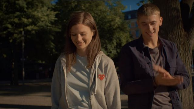 The tracksuit jacket As The Boys Play range by Maja (Hanna Ardéhn) in Quicksand - Nothing greater (S01E01)