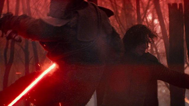 Red Lightsaber used by Kylo Ren (Adam Driver) in Star Wars: The Rise of Skywalker