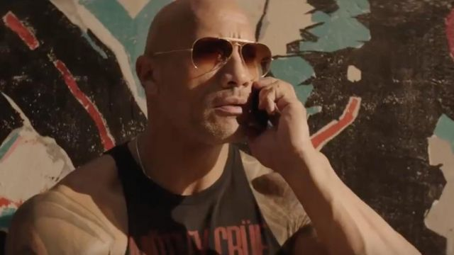 Motley Crue Tank Top worn by Luke Hobbs (Dwayne Johnson) in Fast & Furious Presents: Hobbs & Shaw