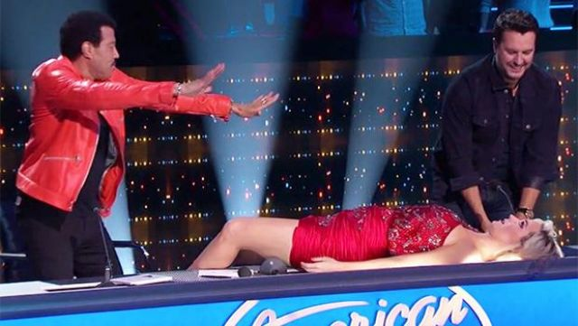 Redemption Red Dress worn by Katy Perry on American Idol 2019